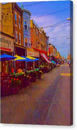 9th Street Italian Market Philadelphia Rendering Canvas Print by Bill Cannon