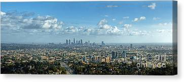 A 10 Day In Los Angeles Canvas Print by David Zanzinger
