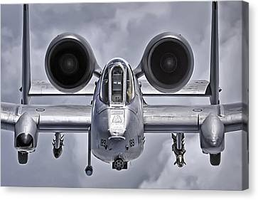 A-10 Thunderbolt II Canvas Print by Adam Romanowicz