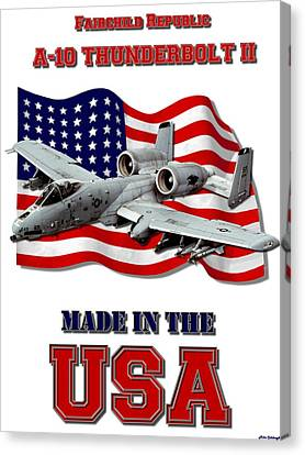 A-10 Thunderbolt Made In The Usa Canvas Print