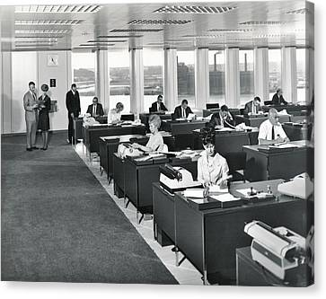 A 1965 Modern Office Canvas Print