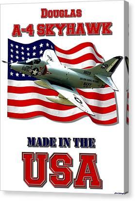 A-4 Skyhawk Made In The Usa Canvas Print
