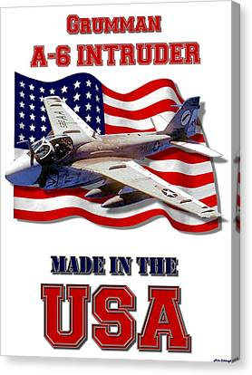A-6 Intruder Made In The Usa Canvas Print