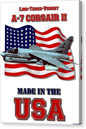 A-7 Corsair II Made In The Usa Canvas Print