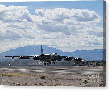 A B-52 Stratofortress Takes Canvas Print by Stocktrek Images