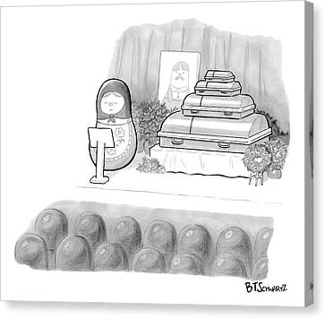 A Babushka Doll Gives The Eulogy For Another Canvas Print