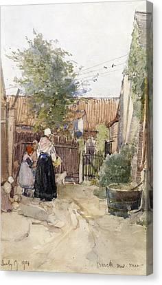 A Back Garden Berck Sur Mer Canvas Print