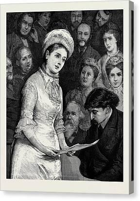 A Ballad Concert Canvas Print by English School