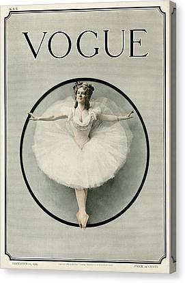 Ballet Dancers Canvas Print - A Ballerina by Artist Unknown
