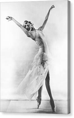 Ballet Dancers Canvas Print - A Ballet Dancer by Underwood Archives