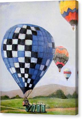 A Balloon Disaster Canvas Print by Donna Tucker