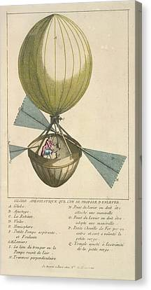 A Balloon With Oars Canvas Print by British Library