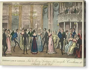 A Ballroom Canvas Print by British Library