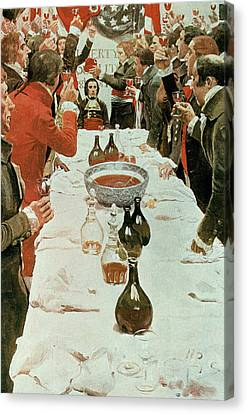Brandywine Canvas Print - A Banquet To Genet, Illustration From Washington And The French Craze Of 93 By John Bach Mcmaster by Howard Pyle
