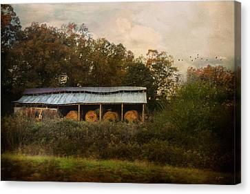 A Barn For The Hay Canvas Print by Jai Johnson