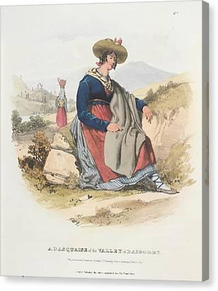 A Basquaise Canvas Print by British Library