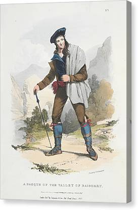 A Basque Canvas Print by British Library
