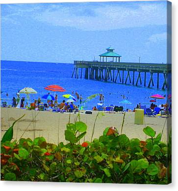 Canvas Print featuring the photograph A Beach Day by Artists With Autism Inc
