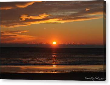 A Beach Life Sunrise Canvas Print