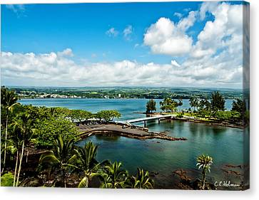 A Beautiful Day Over Hilo Bay Canvas Print by Christopher Holmes