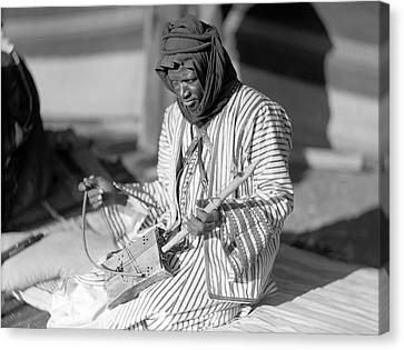 A Bedouin Negro Minstrel Canvas Print by Underwood Archives