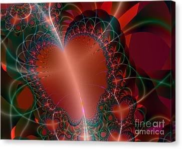 Canvas Print featuring the digital art A Big Heart by Ester  Rogers