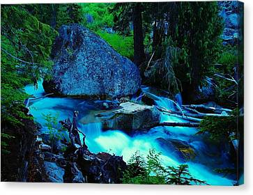 A Big Rock On The Way To Carter Falls Canvas Print