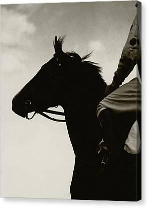 A Black Racehorse Canvas Print by Edward Steichen