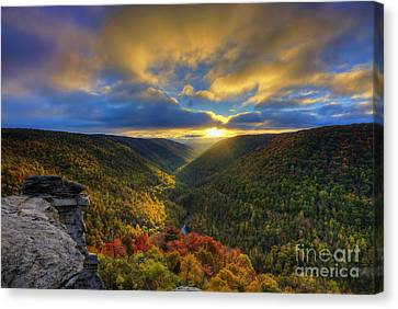 A Blue And Gold Sunset Canvas Print