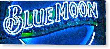 Blue Moon In An Aussie Pub Canvas Print