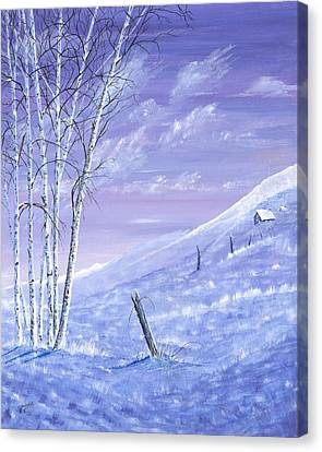 A Blue Winter Canvas Print