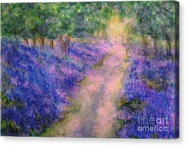 A Bluebell Carpet Canvas Print by Hazel Holland