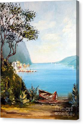 A Boat On The Beach Canvas Print by Lee Piper