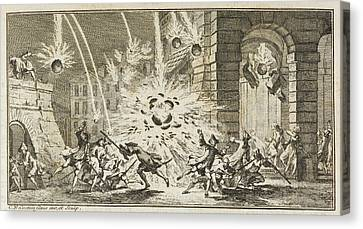 A Bombardment Canvas Print
