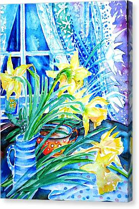 A Bouquet Of April Daffodils  Canvas Print by Trudi Doyle