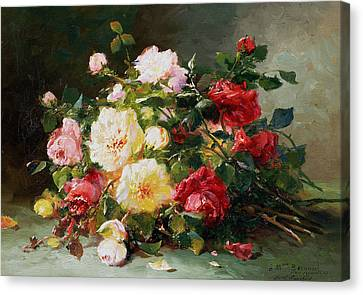 A Bouquet Of Roses Canvas Print