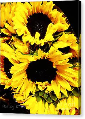 A Bouquet Of Sunshine  Canvas Print by Nancy E Stein