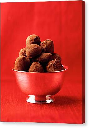 A Bowl Of Truffles Canvas Print by Romulo Yanes