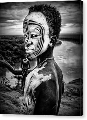 Indigenous Canvas Print - A Boy Of The Karo Tribe. Omo Valley (ethiopia). by Joxe Inazio Kuesta
