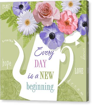 A Brand New Day Canvas Print by Valerie Drake Lesiak