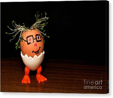 A Brave Eggman. Easter People Series Canvas Print