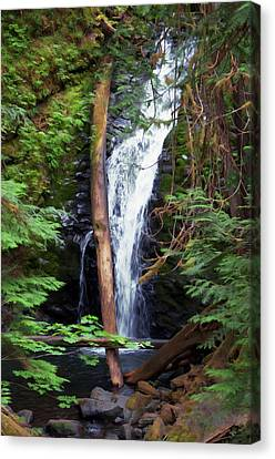 A Breathtaking Waterfall. Canvas Print