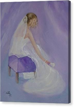 A Brides Soft Touch Canvas Print