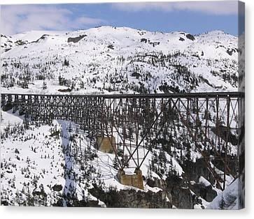 A Bridge In Alaska Canvas Print