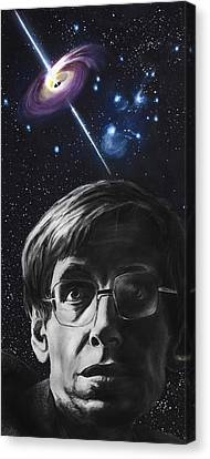 A Brief History Of Time- Stephen Hawking Canvas Print by Simon Kregar
