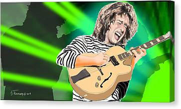 A Bright Size Life Pat Metheny Canvas Print by David Fossaceca