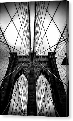 New York City Skyline Canvas Print - A Brooklyn Perspective by Az Jackson