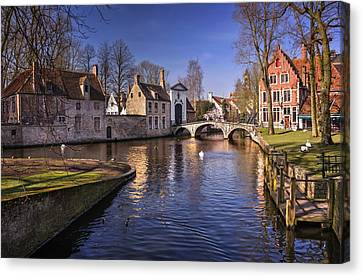 Blue Bruges Canvas Print by Carol Japp