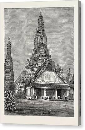 A Buddhist Wat, Or Temple, At Bangkok Canvas Print