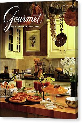 A Buffet Brunch Party Canvas Print by Romulo Yanes